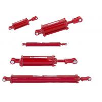 Quality Tractor Loader Hydraulic Cylinder Two Way Chrome Plated Heat Treatment Surface for sale