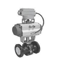 China PTFE Lined Ball Valve Pneumatic Supply Class 150 Pressure NPS 1 - NPS 8 Size on sale