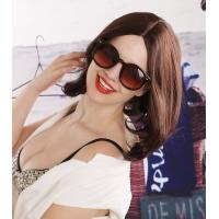 Quality Popularity Top Quality Charming Woman 100% Kankekare Fiber Medium Brown Lovely Synthetic Wig for sale