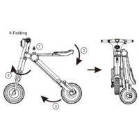 China Folding Electric Scooter Motorized Electric Bicycle Max Speed 18KMH on sale