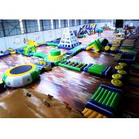 China Great Fun Inflatable Water Park For Open Water Plato 0.9mm PVC Tarpaulin on sale