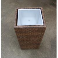 Quality Hand-Woven Wicker Flower Pot For Outdoor Garden / Greenhouse / Bar for sale