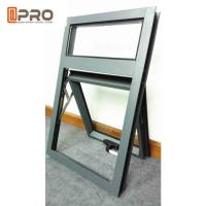 China Solar Powered Awning Aluminum Windows , Double Glazed Vertical Awning Windows on sale