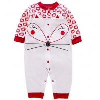 Quality Lovely Red Animal Printed Baby Girl Rompers 100% Cotton Baby Child Clothes for sale