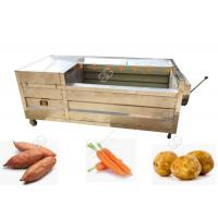 Quality Carrot Washing And Peeling Line Vegetable Washing Machine Commercial CE / ISO for sale