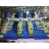 Buy cheap New Disney cartoons inflatable dry slide fun castle inflatable mickey painting high standard slide from wholesalers