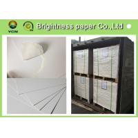 China Large White Card Sheets 350gsm , Recycled Coated Cardboard Sheets Anti - Curl on sale