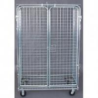 Quality Logistic Cart Space Saving Metal Removable Shelf Roll container, Pallet (800x670x1700mm) for sale