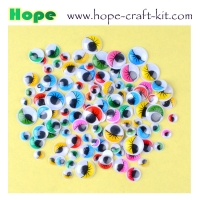 China Multi-colored assorted colors plastic adhesive back sticky back googly eyes wiggly eyes for hobbies and kids DIY craft on sale