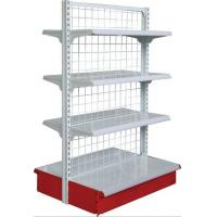 Quality Double Gondola Supermarket Mesh Backboard Wire Shop Display Stands for sale
