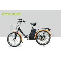 Quality CE 24 Inch Pedal Assist Electric Bike , lady style E Bike 36V Brushless Motor V Brake for sale