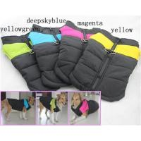 Quality Luxury Dog clothing for Large Dogs Winter Big Large Dog Vests Coats 4 Colors AA+ for sale