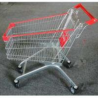 China Strong Frame Folding Shopping Cart , Shopping Trolley Cart 5 Inch Caster Size on sale