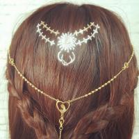 Buy cheap Metallic Gold Thin Line Amazing Hair Tattoo from wholesalers