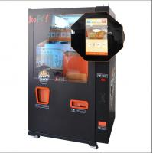 Quality Black Color Orange Fruit Juice Vending Machine For School / Shops Use for sale