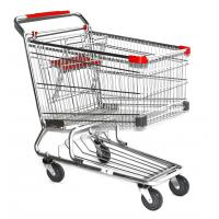 Quality latest style rubber wheel Supermarket Shopping Trolleys Warehouse Series HBE-W-15 for sale