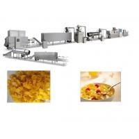 China Crispy Corn Flakes Production Line , SS Material Breakfast Cereals Making Machine on sale