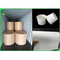 China FDA Certificated 18gr PE Coated Lunch Box 300gsm C1S White Cardboard on sale