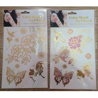 shimmering foil temporary tattoos
