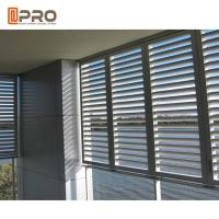 Quality Eco - Friendly Aluminium Louver Window , Secure Glass Shutter Openable Plantation Louver Ventilation Grille Window for sale