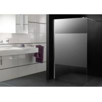 Quality 1000 X 1000 Shower Cubicles Walk In Frost Glass Big Stripe Chrome Supporting Bar for sale