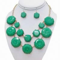 China Bead necklace set, made of zinc alloy on sale