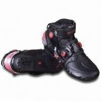 Quality Motorcycle Racing Boots, Made of 2.0mm Wear-resistant Super-fiber Leather for sale