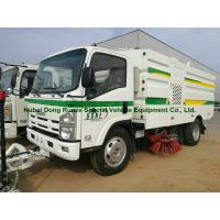 Quality Multifunctional ISUZU Road Cleaning Truck , Vacuum Broom Sweeper Truck for sale