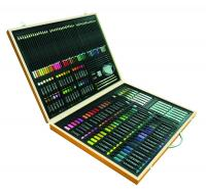 Quality art set &165pcs stationery set in wood box w/shrink wrap&set of 53pcs England easel for sale