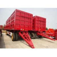 Quality 30ft Roof Opened Drop Side Trailer , Drawbar Steel Box Full Trailer With 3 Axles for sale