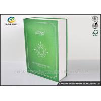 China Book Shaped Cosmetic Packaging Boxes UV Coating Printing Face Mask Gift Box on sale