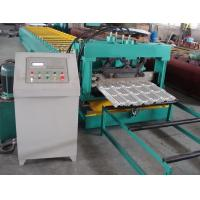 Quality Delat PLC Control Steel Metal Roof Panel Roll Forming Machine Roof Panel Roll Former With 5 Ton Decoiler for sale