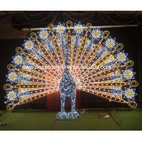 Quality large outdoor peacock christmas decorations for sale