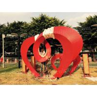 Quality Metal Art Letters Stainless Steel Outdoor Sculpture Painted Red Color For Park Decor for sale