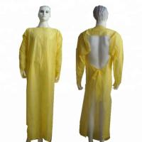 Quality Plastic CPE Surgical Disposable Isolation Gowns With Sleeves for sale