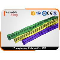 China Tested Endless Polyester Round Slings for Pipe Lifting Safety Factor 7-1 on sale