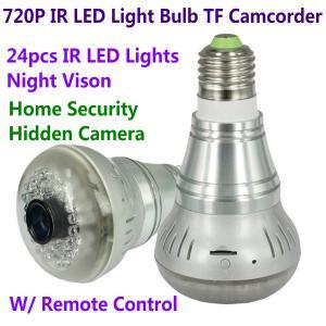 HD 720P E27 24pcs LED Light IR Bulb Lamp Video Camcorder Hidden Spy CCTV Surveillance DVR