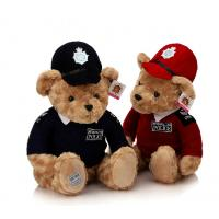 Quality police teddy bear, police bear plush toy bear for sale