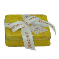 Quality Custom rectangular candy tin box  chocolate gift boxes with ribbon for sale