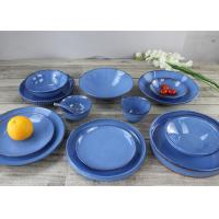 Quality Western Style Ceramic Dinnerware Jewelry Blue Stoneware Cultery for sale