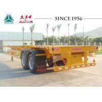 Quality 2/3 Axles Skeletal Container Trailer Customizable Dimension For Terminal Port for sale