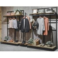 Quality Commercial Clothing Display Racks Hanging Iron Display Shelf 30*40*1.6mm for sale