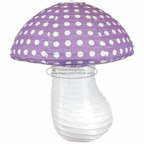 Quality Children Paper Lanterns mashroom dots table Hanging baby shower decoration for sale