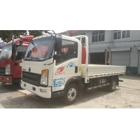 China ISO Passed Sinotruk 10T HOWO 4x2 Euro3 Light Cargo Truck Left Hand Drive With AC on sale