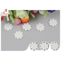 Quality Original Cotton Small Flower Lace Collar Applique With DTM Dyeing for sale