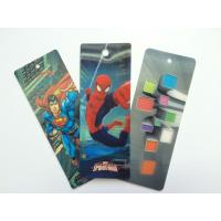 Quality PET 3D Lenticular Personalized Book Marks With CMYK Printing 0.65 mm Thick for sale
