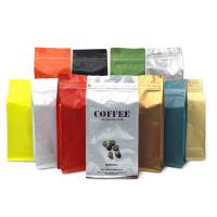 Quality Aluminum Foil Coffee Bags with Valve Stand Up Zipper Resealable coffee bean Packing Bag for sale
