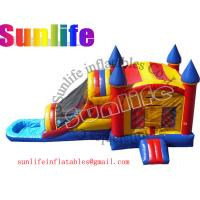 Quality inflatable pool and jumper slide combo for sale