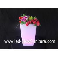 Quality Rechargeable Waterproof Plastic lighting illuminated plant pots for bars , shops decorations for sale