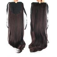 Quality Promotion sales Synthetic Darkest Brown  Natural Wave Pony Tail Hair Pieces for sale
